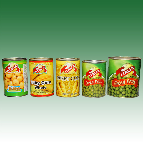 italia canned vagetable range